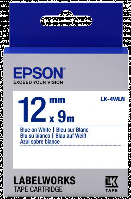 Etikettenkassette LK-4WLN - Standard - blau auf weiß - 12mmx9m