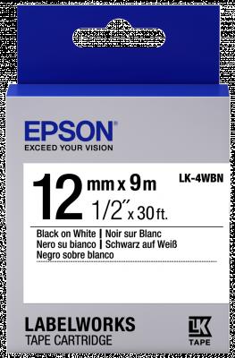 Etikettenkassette LK-4WBN - Standard - schwarz auf weiß - 12mmx9m