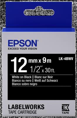 Etikettenkassette LK-4BWV - Vivid - weiß auf schwarz - 12mmx9m