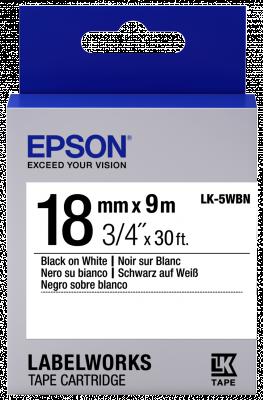 Etikettenkassette LK-5WBN - Standard - schwarz auf weiß - 18mmx9m