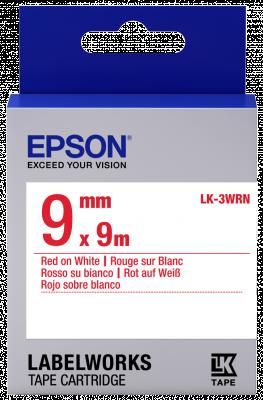 Etikettenkassette LK-3WRN - Standard - rot auf weiß - 9mmx9m
