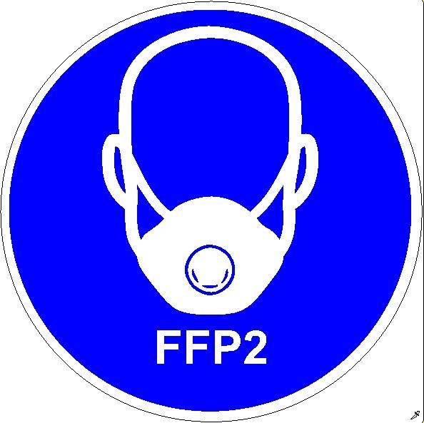 Mundschutzanlegen FFP2 Frontansicht rund