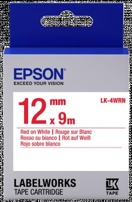 Etikettenkassette LK-4WRN - Standard - rot auf weiß - 12mmx9m