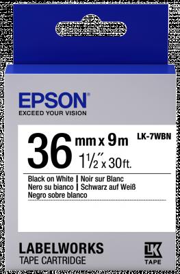 Etikettenkassette LK-7WBN - Standard - schwarz auf weiß - 36mmx9m