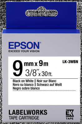 Etikettenkassette LK-3WBN - Standard - schwarz auf weiß - 9mmx9m