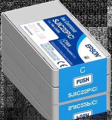Epson Tintenpatrone für TM-C3500, Cyan