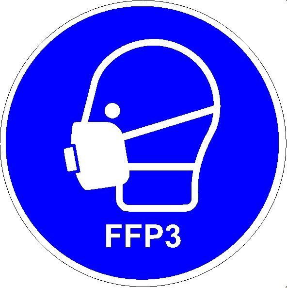 Mundschutzanlegen FFP3 Seitenansicht rund