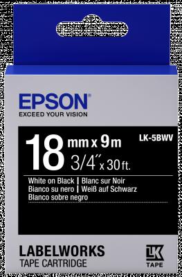 Etikettenkassette LK-5BWV - Vivid - weiß auf schwarz - 18mmx9m