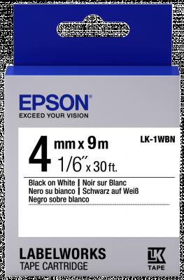 Etikettenkassette LK-1WBN - Standard - schwarz auf weiß - 4mmx9m