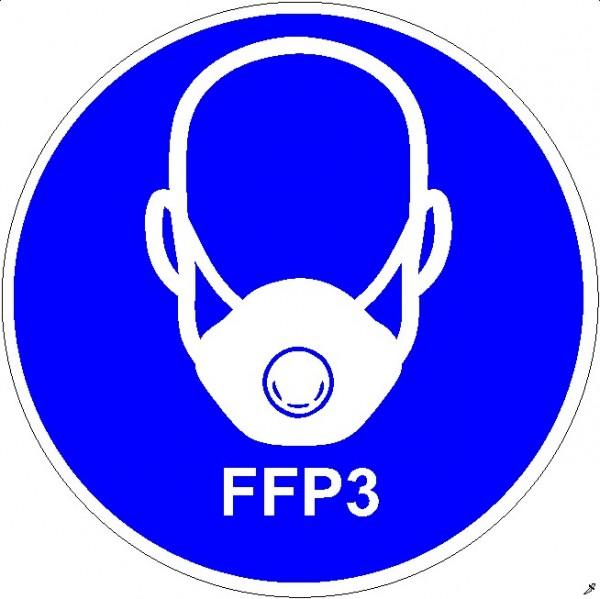 Mundschutzanlegen FFP3 Frontansicht rund