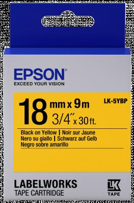 Etikettenkassette LK-5YBP - Pastell - schwarz auf gelb - 18mmx9m