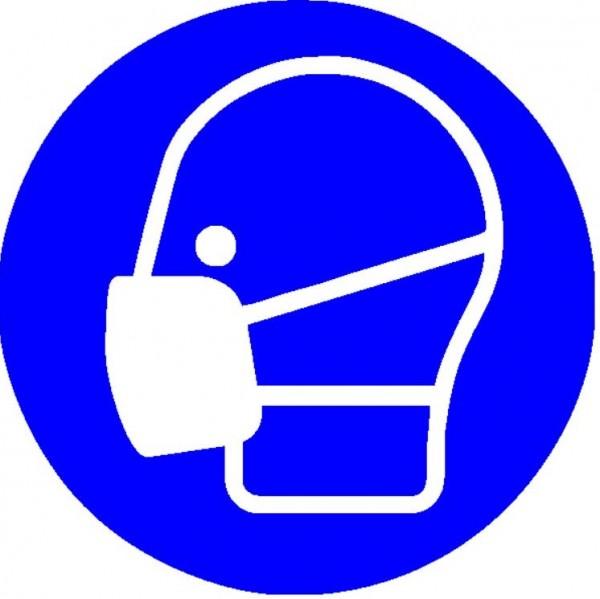 Mundschutzanlegen Seitenansicht rund
