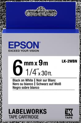 Etikettenkassette LK-2WBN - Standard - schwarz auf weiß - 6mmx9m