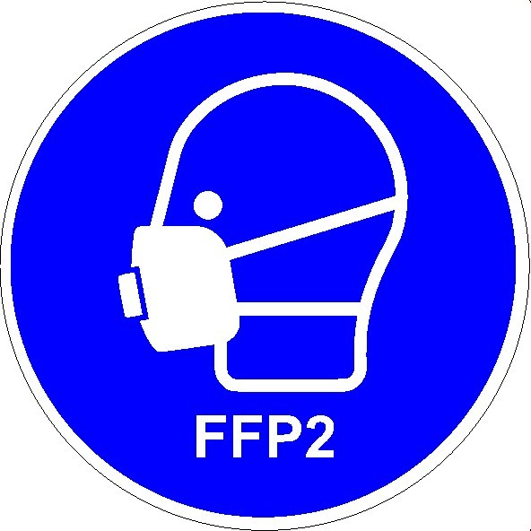 Mundschutzanlegen FFP2 Seitenansicht rund